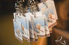 Ski Bar Mitzvah place cards