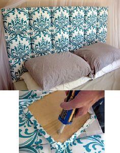 DIY Headboard ... I want this!!