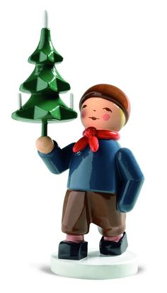 New for 2014 from Wendt and Kuehn - Winter Kinder - Boy with Tree. Created over 40 years ago by Olly Wendt as a personal gift for friends - available to collectors now for the first time | My Growing Traditions.  Available now at www.mygroiwngtraditions.com