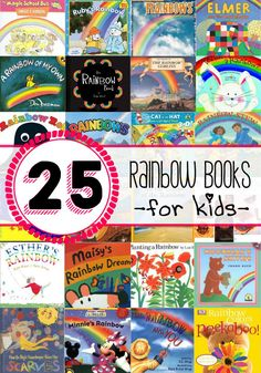 25 Rainbow books for learning. Perfect for spring!