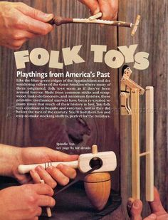 #1799 Wooden Folk Toys Plans - Children's Wooden Toy Plans and Projects