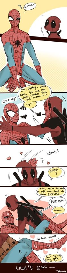I never saw myself shipping Spideypool, and then I ended up having to because it's hilarious and adorable