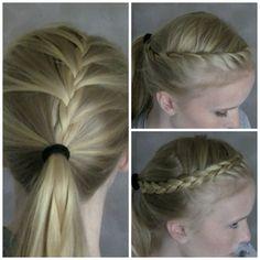 Best Athletic Hairstyles! Softball Hair Braids, Athletic Hairstyles, Volleyball Hairstyles, Sporty Hairstyles, French Braid Hairstyles, Cute Girls Hairstyles, Princess Hairstyles, Great Hairstyles, Ponytail Hairstyles