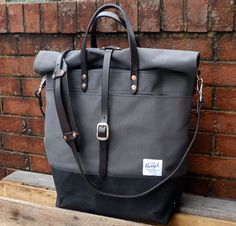 Waxed Canvas Roll Top Rucksack Backpack by RiegelGoodsCompany