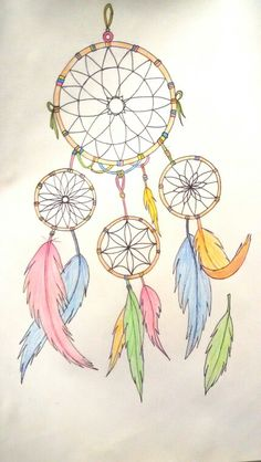 Drawing dreamcatcher color