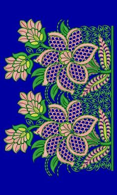Japanese Border Fabric Embroidery Design 16592
