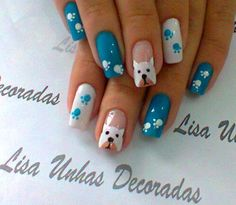 Nail art #dog #lovers {Please visit whatcanwe.org to find out how you can help animals in need.}