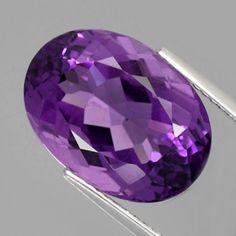 10.52 ct. Schöner ovaler Intensiv Violetter 16 x 11.5 mm Uruguay Amethyst Amethyst Gemstone, Natural Gemstones, Decorative Bowls, Uruguay, Gemstones, Nice Asses