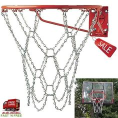 Basketball Goal Net Chain Steel Galvanized No Rust Official Size Indoor Outdoor  #ChampionSports