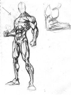 Drawing body male anatomy deviantart 50 New Ideas Male Figure Drawing, Figure Drawing Reference, Guy Drawing, Drawing Poses, Art Reference Poses, Drawing Tips, Anatomy Sketches, Art Drawings Sketches, Cool Drawings