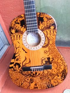 Hand painted guitar