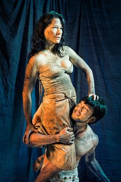 Erika Chong Shuch and Daisuke Tsuji in a publicity photo for A Midsummer Night's Dream, directed by Shana Cooper. Photo by Kevin Berne. Tickets: calshakes.org/tickets or 510.548.9666.