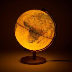 "Illuminated globe, a la Coldplay's ""Parachutes"" album cover"