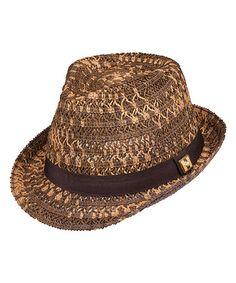 Look what I found on #zulily! Brown Anthea Fedora by Peter Grimm Hats #zulilyfinds