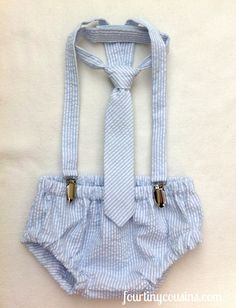Baby Boy Diaper Cover Suspenders and Long Neck by fourtinycousins, $57.00