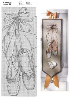 0 point de croix chaussons de danse - cross stitch ballet shoes