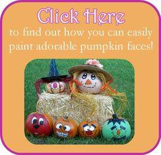 Painting creative pumpkin faces & pumpkin decorating ideas!  TONS OF THEM!