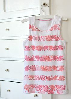 Striped Stamped Tank