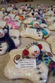 Handmade Melting Snowmen