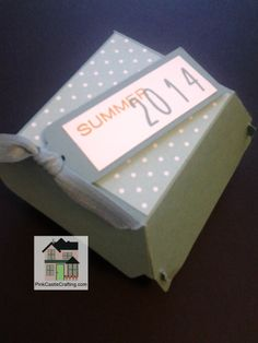 Hamburger Box Bigz XL die from Stampin' Up!  Great for a bbq or picnic! More project ideas at www.pinkcastlecrafting.com
