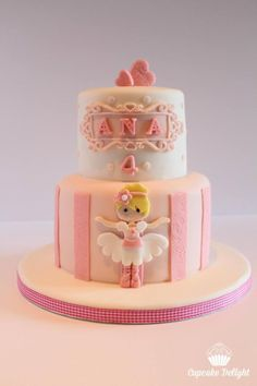 I love this cake. It is so cute. Made for a little girl who loves ballet and everything pink. I hope you had a fantastic day Ana xxx
