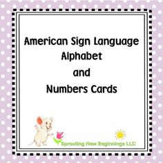 ASL (American Sign Language) ~Alphabet and Number Cards (Flash Cards) Sign Language Alphabet, American Sign Language, Asl Signs, Multi Sensory, Site Words, Teaching The Alphabet, Spelling Words, School Readiness, Alphabet And Numbers