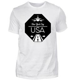 New York City USA T-Shirt Chicago Usa, Basic Shirts, New York City, Houston, Mens Tops, Fashion, Cotton, Naples Italy, Dublin Ireland