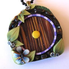 Fairy Door Necklace Hobbit Style by Claybykim on Etsy,
