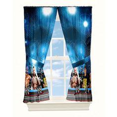 WWE Wrestling Arena Microfiber Window Panels Set of 2 w/ Tiebacks Panels New Wwe Bedroom, Royal Bedroom, Kids Bedroom, Bedroom Decor, Bedroom Ideas, Thomas Bedroom, Fashion Art, Daughters Room, Room Themes