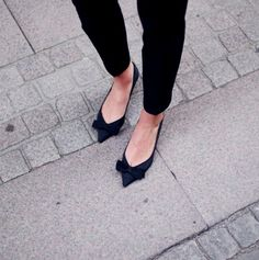 Bow flats #shoes