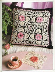 Crochet Knitting Handicraft: Lots of Crochet Patterns for Pillows