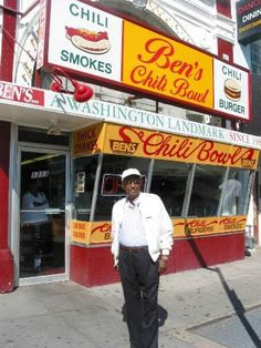 Ben's Chili Bowl: Ben Ali stands in front of the legendary restaurant he created ... that is now run by his sons. Mr. Ali passed away in 2009 at the age of 82.