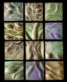 Tree of Life ceramic tiles, by Natalie Blake Studios.