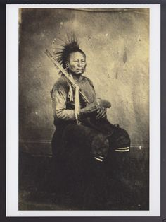 Wah Tian Kah Osage Indian Tribe Circa 1865 1868 Portrait Photo Modern Postcard | eBay