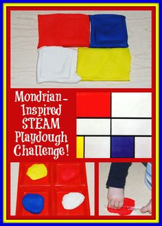 Mondrian-Inspired STEAM Playdough Challenge for Kids! | The Preschool Toolbox Blog