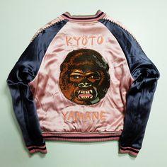 2b0f4b858b7f Dope Rare Vintage EVISU Yamane Jeans Denim Japanese KYOTO Japan Tiger Pink  Godzilla Gojira Yokosuka Jumper