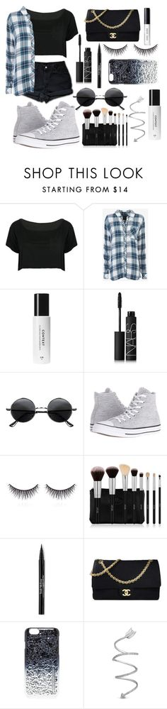 """Youth"" by fashionisminej ❤ liked on Polyvore featuring Levi's, WithChic, Rails, NARS Cosmetics, Retrò, Converse, shu uemura, Trish McEvoy, Chanel and Marc by Marc Jacobs"