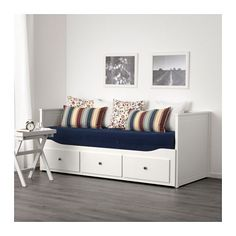 HEMNES Daybed with 3 drawers/2 mattresses, white, Minnesund firm white/Minnesund firm Twin