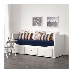 HEMNES Tagesbett/3 Schubladen/2 Matratzen - weiß/Malfors fest - IKEA