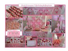 princess tablescapes | PINK PRINCESS 1st Birthday & Baptism Dessert Tablescape that I ...