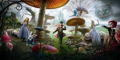 """""""There is a place. Like no place on Earth. A land full of wonder, mystery, and danger! Some say to survive it: You need to be as mad as a hatter. """" Alice in Wonderland"""