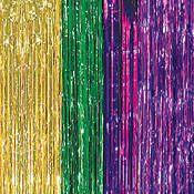 Mardi Gras Foil Curtains