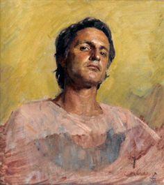 Robert Hannaford (1944 - ) | Self-portrait-2x2-1984
