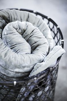 A blanket in a basket Gris Taupe, Cosy Winter, Gray Matters, Fifty Shades Of Grey, Grey And White, Style Guides, Gray Color, Colour, Style Inspiration