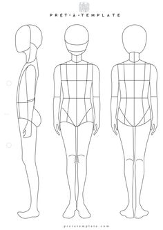 Teen Tenager body figure fashion template (D-I-Y your own Fashion Sketchbook)
