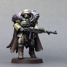 """Eugene on Instagram: """"Salusian imperial guardsman aka sardaukar in heavy armour. Tunda planetary type camouflage. Armed with human adjusted rad- carbine…"""" Warhammer Armies, Warhammer Art, Warhammer 40k Miniatures, Warhammer 40000, Imperial Guardsman, Paint Schemes, Armored Vehicles, Barbarian, Camouflage"""