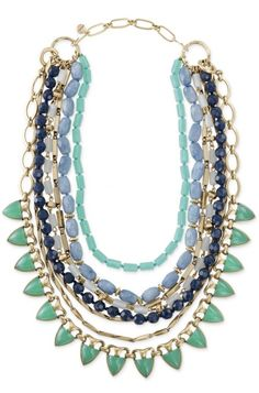 Layering is made simple with the Sutton blue & green beaded statement necklace from Stella & Dot.  Find fashion necklaces, trendy necklaces, pendants & more.