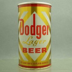 Dodger Lager 59-5 pull tab beercan