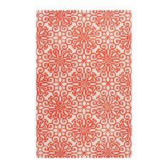 Add a pop of pattern to your living room or den with this lovely hand-tufted wool rug, showcasing a medallion motif in rust red.    ...