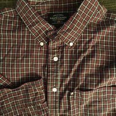 Men Ralph Lauren Jeans Co Black Red Plaid XX-Large Shirt  L/S #RalphLauren #ButtonFront